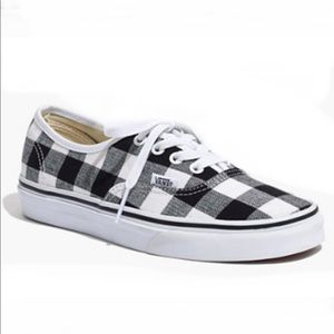 Madewell Vans ERA Gingham Check Black Sz 9 NIB